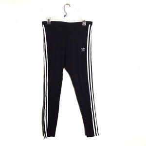 Adidas Originals Black Three Stripe Leggings